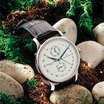 Jaquet Droz. A very fine and very rare limited edition 18ct white gold bi-retrograde perpetual calendar automatic wristwatch Numerus Clausus, Ref:008334202, No.26/88, Movement No.000178, Made in 2008