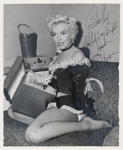 Marilyn Monroe: A rare autographed photograph,