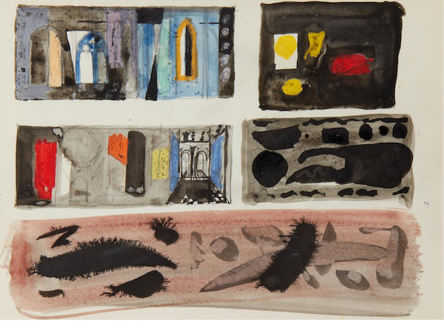 John Piper C.H. (British, 1903-1992) Abstracts