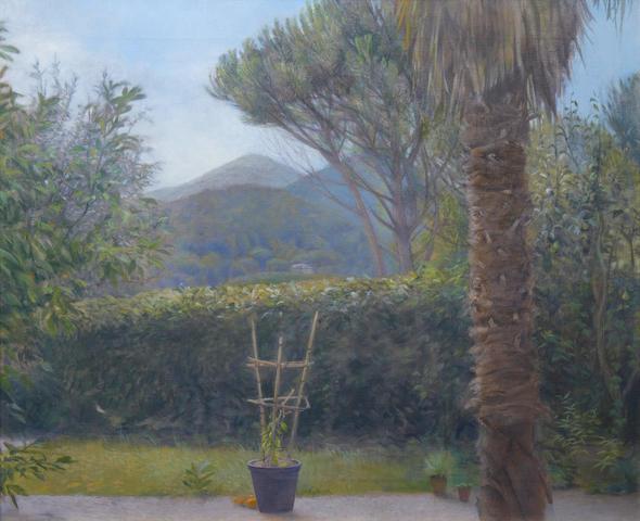 David Tindle, R.A. (British, born 1932) Italian garden