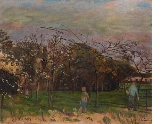 Carel Weight R.A. (British, 1908-1997) The Orchard
