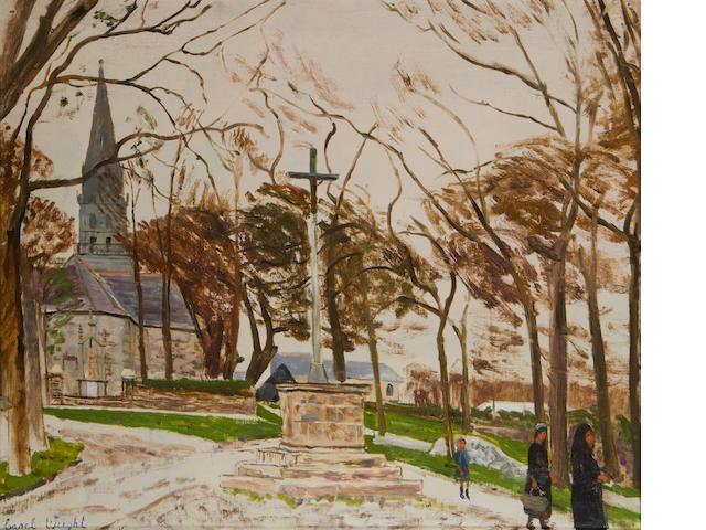 Carel Weight R.A. (British, 1908-1997) Breton Calvary
