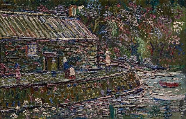 Fred Yates (British, 1922-2008) Pont Creek, Fowey