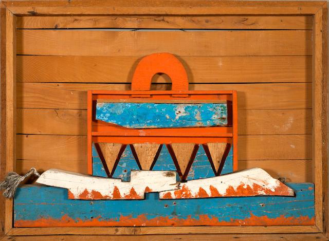 Alexis Akrithakis (Greek, 1939-1994) Suitcase 73 x 98.5 x 5.5 cm.