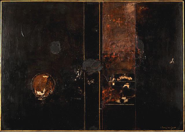 Yiannis Spyropoulos (Greek, 1912-1990) PELLINI No5 64.5 x 92 cm.