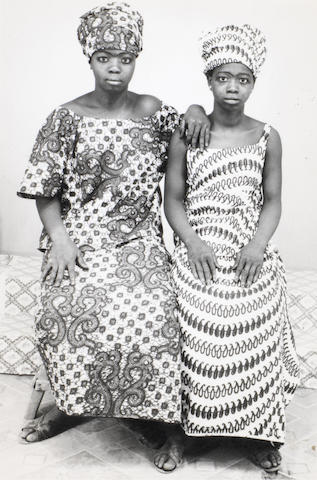 Malick Sidibé (Malian, born 1936) Untitled studio portrait, c. 1970 Paper 12.5 x 8.7cm (4 15/16 x 3 7/16in), image 11.9 x 7.9cm (4 11/16 x 3 1/8in).