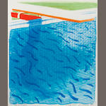 David Hockney R.A. (British, born 1937) Paper Pools (MCA Tokyo 234) Lithograph in colours, 1980, on Arches cover paper, signed and dated in pencil, numbered 777/1000, published by Tyler Graphics, Ltd., Mount Kisco, New York, 1980, with their blindstamp; with the accompanying book Paper Pools, with title, text and justification, signed by the artist on the justification in red ink, copy 777 of 1000, within the original blue canvas cloth binding and slipcase, 265 x 225mm (10 1/8 x 8 7/8in)(Vol)