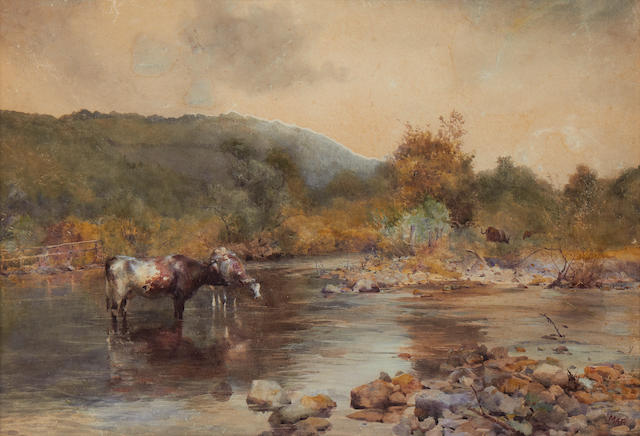 Mildred Anne Butler (Irish, 1858-1941) Cattle watering at the ford, Aughrin River
