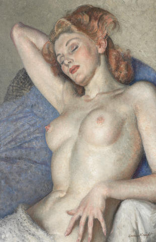Dame Laura Knight, R.A., R.W.S. (British, 1877-1970) Sleeping Nude 61 x 40.5 cm. (24 x 16 in.)