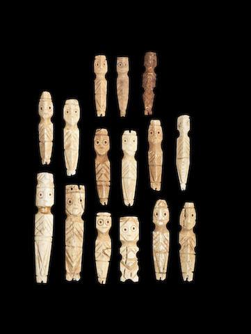 A group of Coptic bone idols 15