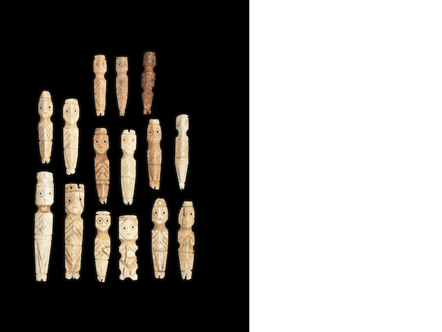 A group of Coptic bone idols 15