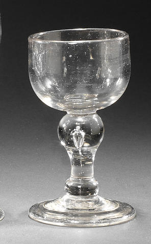 A baluster mead glass, circa 1720-30