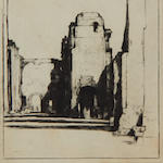 David Young Cameron (Scottish, 1865-1945) A Collection Etchings, including - The Royal Scottish Academy; The Old Museum, Beauvais; Tepidarium; Beauvais; Monzie; The Scuir of Eigg; Tarff; John Knox's house and a Venetian Palace, on various types of laid paper, various condition 9 Royal Academy framed