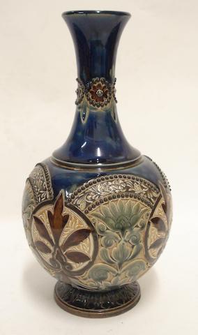 A Doulton Lambeth stoneware vase 1884