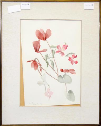Patrick Procktor (British, 1936-2003) Still life study of flowers