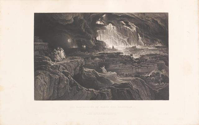 MARTIN (JOHN) Illustrations to the Bible, 20 mezzotint, 1838