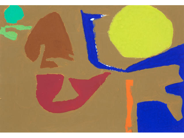 Patrick Heron (British, 1920-1999) December 31: 1982: I 34.5 x 49.7 cm. (13 3/4 x 19 1/2 in.)