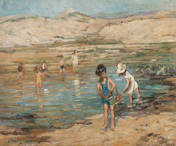 Dorothea Sharp (British, 1874-1955) The Paddlers 50 x 60 cm. (19 11/16 x 23 5/8 in.)