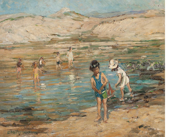Dorothea Sharp (British, 1874-1955) The Paddlers