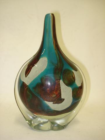 A Mdina glass vase  20th century
