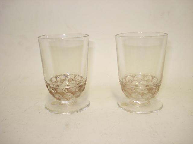 Two Lalique 'Pouilly' liqueur glasses