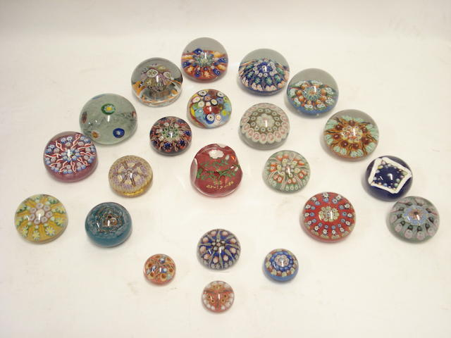 A collection of Scottish millifiore paperweights 20th century
