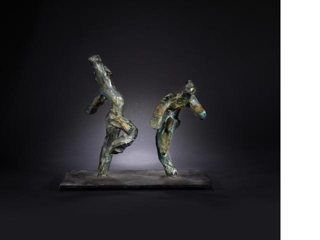Ivor  Abraham (British, 1935) Dancing Majorettes