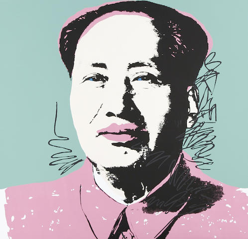 After Andy Warhol (American, 1928-1987) Mao The complete set of 10 screenprints in colours, on stiff wove, each with the Sunday B. Morning stamp verso, the full sheets, each 915 x 915mm (36 x 36in)(SH)(10)(unframed)