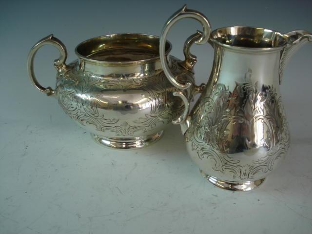 Victorian sugarbowl & cream jug