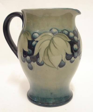 A Walter Moorcroft Leaf and Berry jug