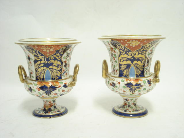 A pair of Derby urns Circa 1800