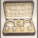 A cased Aynsley silver mounted coffee set Circa 1920