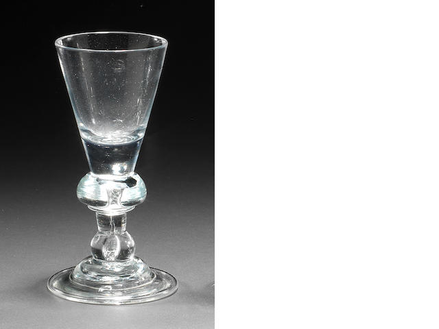 A baluster wine glasses, circa 1720