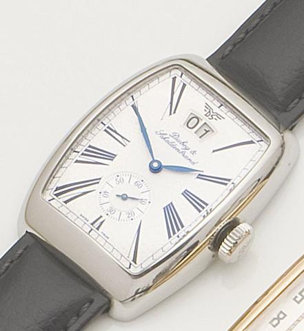 Dubey & Schaldenbrand. A stainless steel automatic calendar wristwatchAerodyn Date, Ref:ADAT/ST/SIB/LS, Case No.1583, Recent