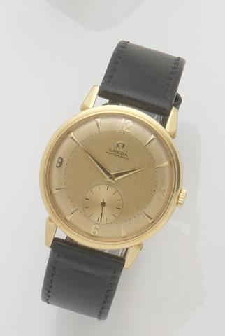 Omega. An 18ct gold automatic wristwatchCase No.11329195, Movement No.13996255, 1950's