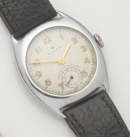 Rolex. A stainless steel manual wind wristwatch Ref:3892, Case No.280864, 1940's