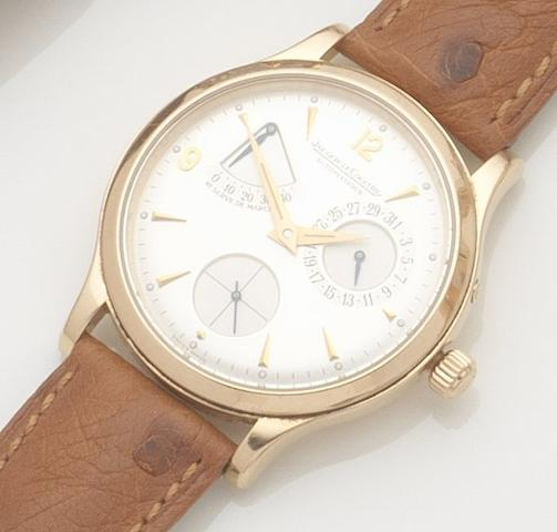 Jaeger-LeCoultre. An 18ct rose gold automatic calendar wristwatchMaster Control 1000 Hours, Case No.140293, Movement No.2831254, sold 10 July 2000