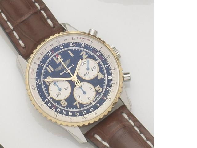 Breitling. A stainless steel automatic chronograph wristwatch Navitimer, Ref:D30022, Case No.2308, Circa 1994