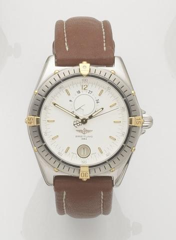 Breitling. A stainless steel calendar automatic wristwatch with power reserveWindrider Reserve de Marche, Ref:B14047, Case No.1-5813, Circa 1994