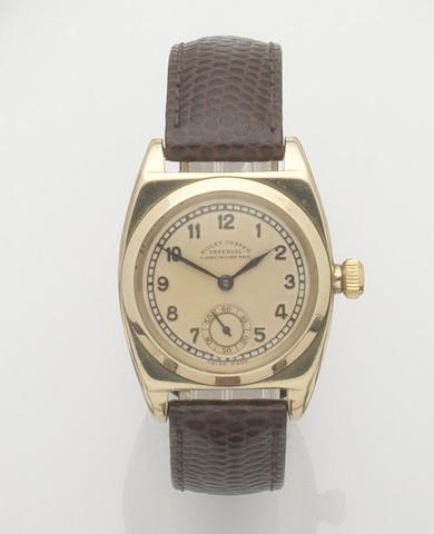Rolex. A 9ct gold manual wind wristwatch Oyster Imperial, Ref:3116, Case No. 42197, hallmark for 1948