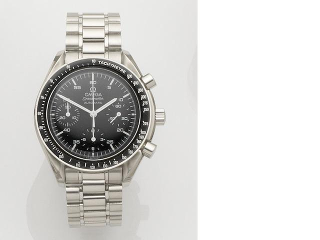 Omega. A stainless steel automatic chronograph bracelet watch Speedmaster Automatic, Ref:ST 175.0032.1, Case No.57840318, Circa 1996