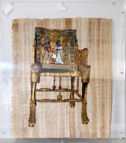 20th Century Egyptian Three decorative images 51 x 49cm