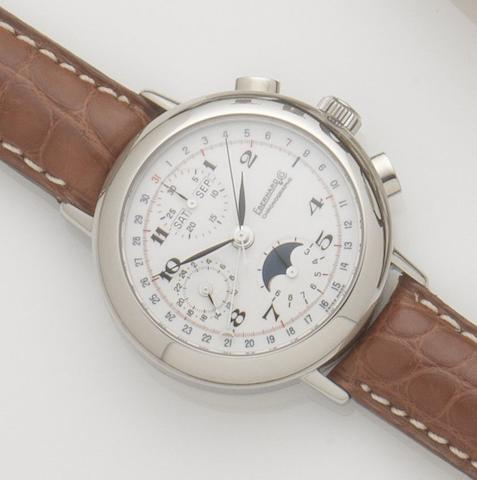 Eberhard & Co. A stainless steel automatic annual calendar chronograph wristwatchReplica, Ref:31039.1, Case No.1081, Recent