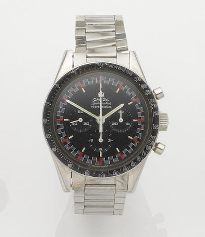 Omega. A stainless steel chronograph manual wind bracelet watch Speedmaster Professional, Ref:2998-62, Movement No.22824444, Circa 1962