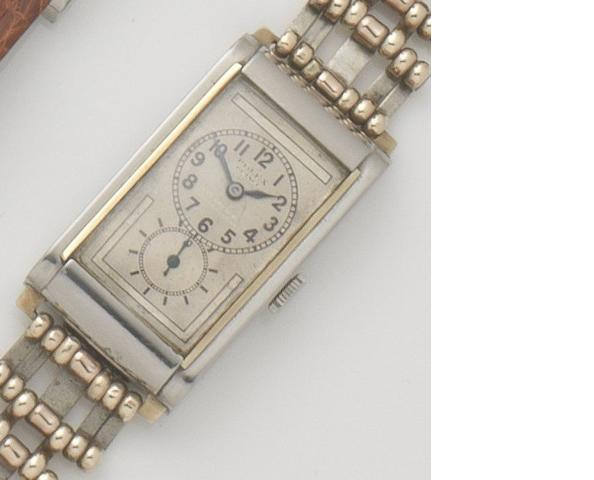 Rolex. A stainless steel manual wind bracelet watch Prince, Ref:1862, Case No.10491, 1920's