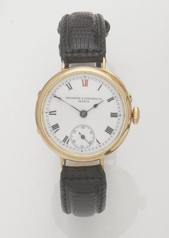 Vacheron & Constantin. An 18ct gold manual wind wristwatch Case No.226049, Movement No.362474, London hallmark for 1912