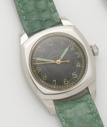 Rolex. A stainless steel manual wind centre seconds wristwatch Oyster, Ref:3139, Case No.245141, Circa 1945