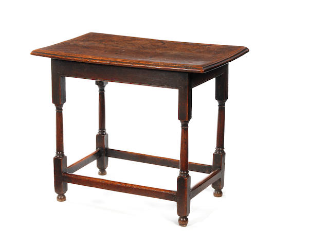 A Queen Anne oak centre table Circa 1710