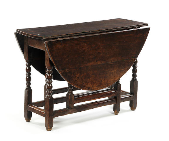 A Charles II oak gateleg table Circa 1680