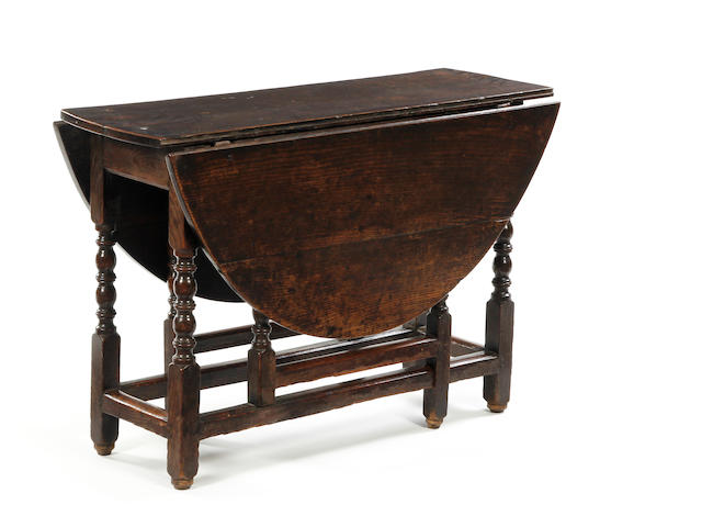 A Charles II oak gatelg table Circa 1680